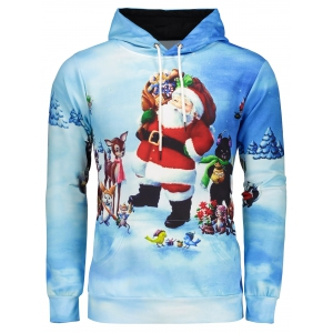 3D Print Pullover Christmas Patterned Hoodies