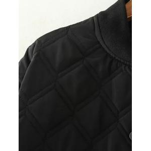 High Low Long Winter Argyle Padded Coat Jacket -
