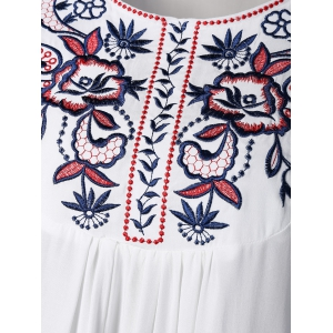 Embroidered Relaxed Mini TunicDress -