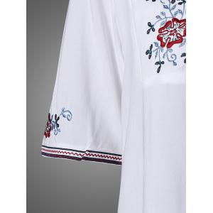 Embroidered Bib Dress -