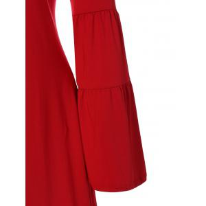Flare Sleeve Dress - RED XL