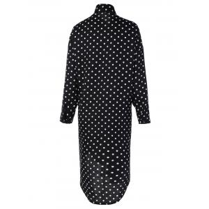 Polka Dot Button Up Shirt Dress -