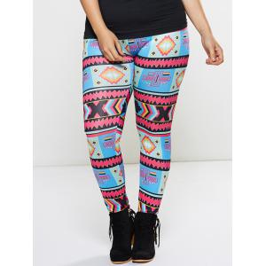 Plus Size Ornate Print Leggings