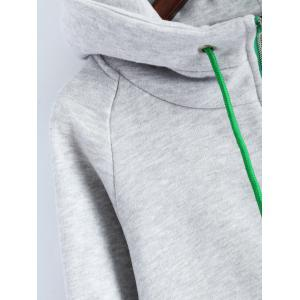 Outdoor Drawstring Zipper Up Hoodie -