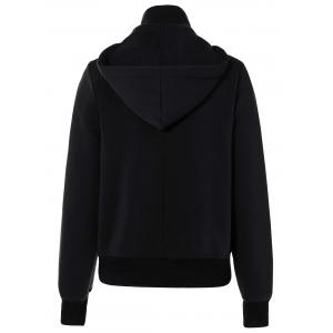 Active Double Breasted Drawstring Hoodie - BLACK 2XL