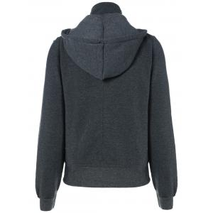 Active Double Breasted Drawstring Hoodie -