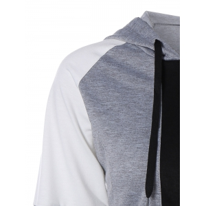 Automne Color Block Zipper Up Hoodie -