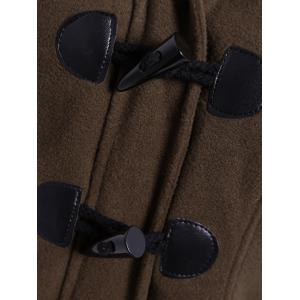 Winter Hooded Duffle Coat - COFFEE 2XL