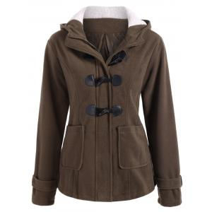 Winter Hooded Duffle Coat - Coffee - M