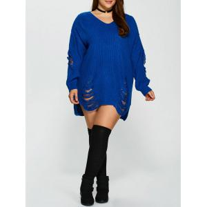 Distressed Plus Size Sweater