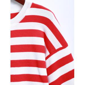 Striped Long Sleeves Knitted Dress -