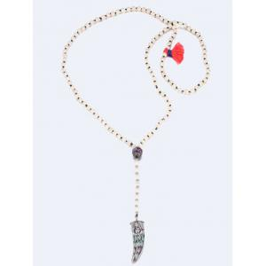 Bohemia Beaded Ox Horn Sweater Chain