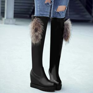Platform Increased Internal Over The Knee Boots -