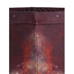 Skinny Print Galaxy Leggings - BLUE ONE SIZE