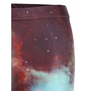 Skinny Print Galaxy Leggings -