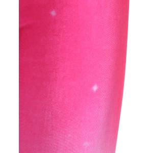 Stretch Tree Print Leggings - PINK ONE SIZE