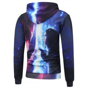 Kangaroo Pocket Cartoon 3D Printed Pullover Hoodie -