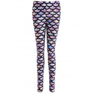 Colorful Scale Print Leggings - Colormix - One Size