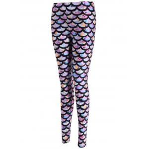 Colorful Scale Print Leggings - COLORMIX ONE SIZE