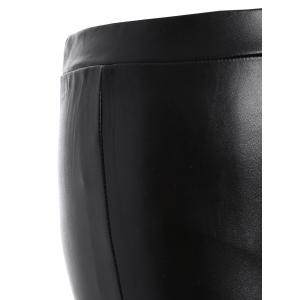 Plus Size Faux Leather Skinny Bodycon Pants -