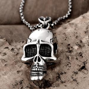 Collier de crâne diable en alliage Vintage -