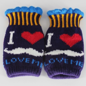 Beard Love Knitted Fingerless Gloves - CONCORD