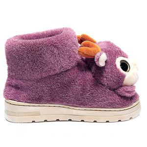 Fuzzy Cartoon Deer House Novelty Slippers - PURPLE SIZE(36-37)
