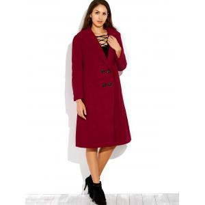 Double Breasted Coat with Shawl Collar -