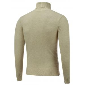 Stretchy Roll Neck Pullover Knitwear -