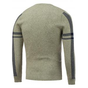 Crew Neck Letter Jacquard Pullover Knitwear -