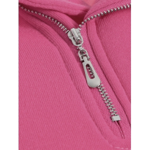 Side Half Zip Kangaroo Pocket Hoodie -