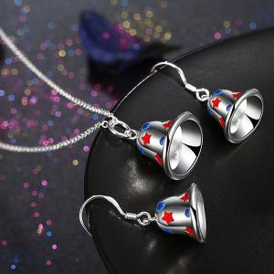 Enamel Christmas Bell Jewelry Set
