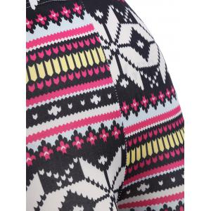 Skinny Snowflake Leggings - COLORMIX ONE SIZE