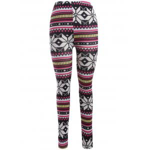 Skinny Snowflake Leggings - Colormix - One Size