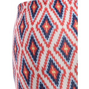 Skinny Argyle Leggings - RED ONE SIZE