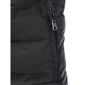 Hooded Zip Pocket Padded Jacket -