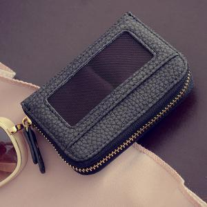 Bowknot Faux Leather Coin Purse -