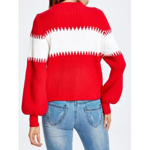 Puff Sleeve Striped Sweater -