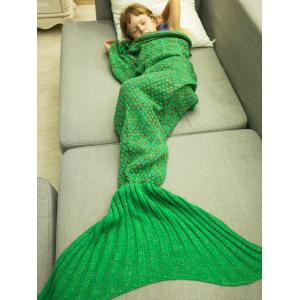 Polka Dot Design Bed Sleeping Bag Knitted Mermaid Blanket