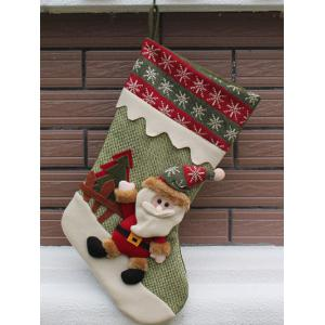 Merry Christmas Santa Claus Hanging Candy Present Sock