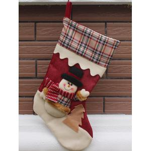Snowman Pattern Hanging Candy Present Sock Party Decoration - Colormix