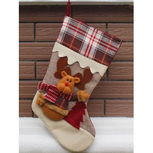 Elk Pattern Hanging Candy Present Sock Party Decoration