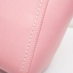 Stitching Pendant PU Leather Tote - PINK