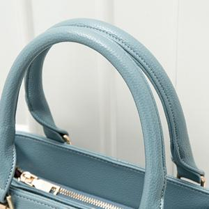 PU Leather Metal Embellished Tote - BLUE