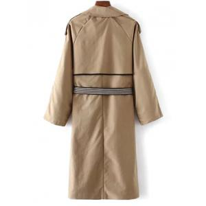Buttoned Pockets Belted Trench Coat -