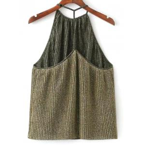 Glitter Pleated Halter Top -
