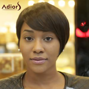 Adiors Spiffy Short Fluffy Side Bang Synthetic Hair Wig -