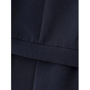 Stand Neck Single-Breasted Coat -