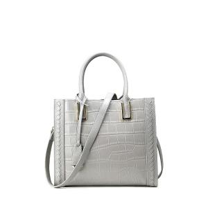 Crocodile Embossed Pendant Handbag