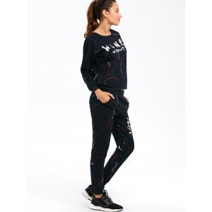 Graphic Sweatshirt with Jogger Pants -